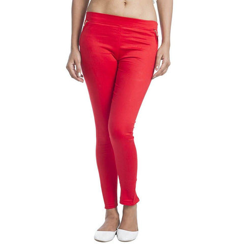 TeeMoods Red Jeggings