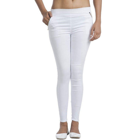 TeeMoods White Jegging