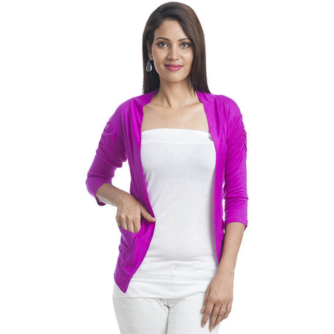 TeeMoods Sleek Purple Shrug-Front