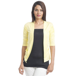 TeeMoods Sleek Yellow Shrug-Front