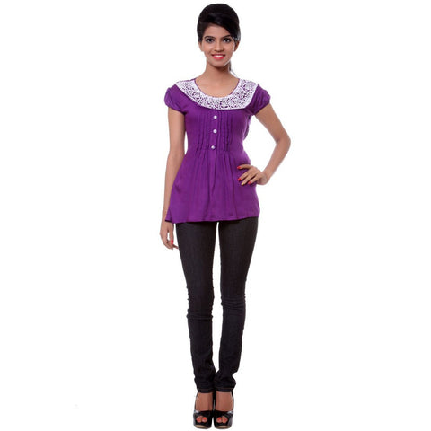 TeeMoods Womens Cotton Violet Tunic