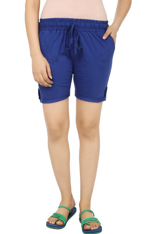 TeeMoods Solid Blue Women's Shorts