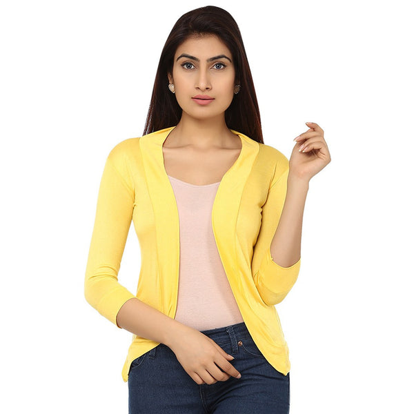 Womens Yellow Shrug
