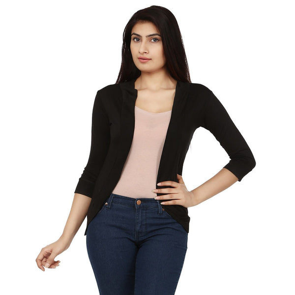 TeeMoods Womens Black Shrug