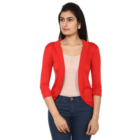Womens Red Shrug