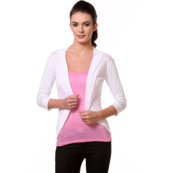 Womens White Shrug