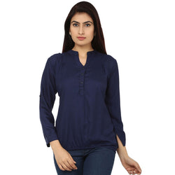 TeeMoods Cotton Navy Women's Shirt