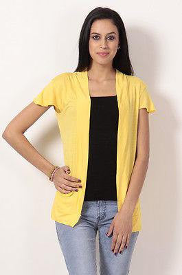 TeeMoods Stylish Yellow Shrug