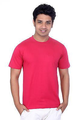 TeeMoods Mens Round Neck Casual Coral T shirt