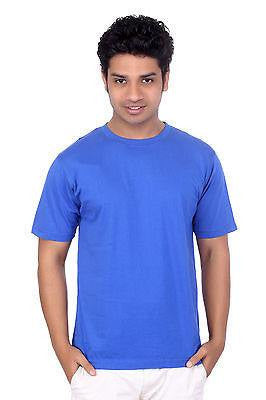 TeeMoods Mens Round Neck Casual Plain Royal Blue T shirt