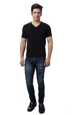 TeeMoods Black V Neck Mens T-shirt