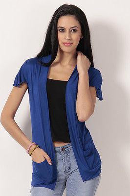 TeeMoods Stylish Royal Blue Shrug