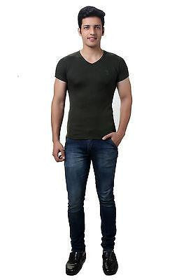 TeeMoods Dark Green V Neck Mens T-shirt