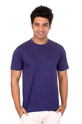 TeeMoods Mens Round Neck Casual Plain Navy Blue T shirt