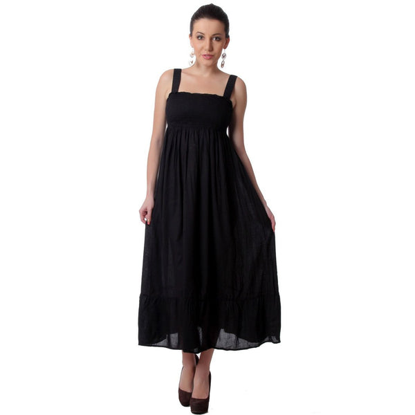 TeeMoods Long Black Maxi SunDress