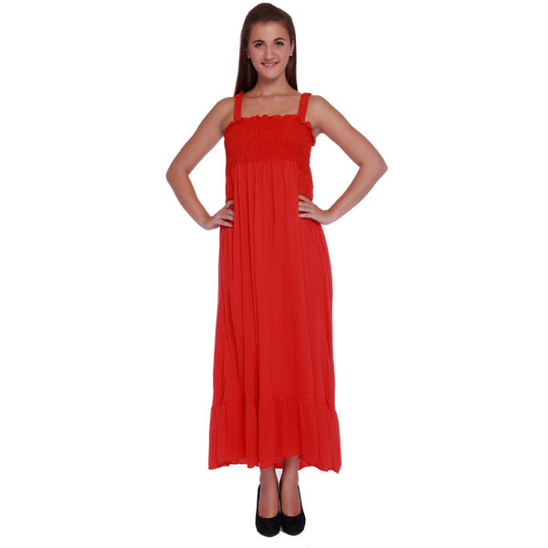 TeeMoods Red Maxi SunDress