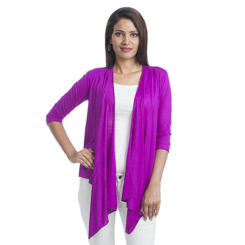 TeeMoods Ultrachik Purple Wrap Shrug