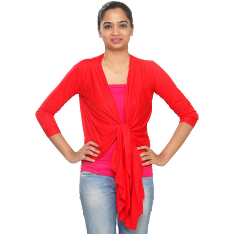 TeeMoods Ultrachik Red Wrap Shrug