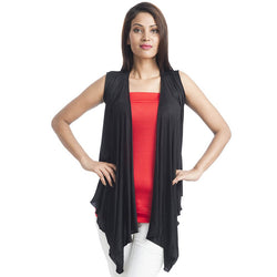 Sleeveless Black Wrap Shrug