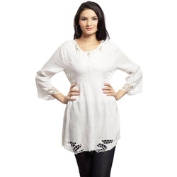 Cool White Embroidered Tunic