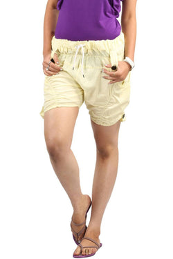 Fiery Yellow Funky Shorts