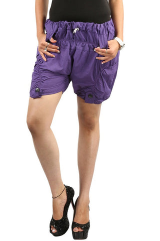 Rich Violet Funky Shorts