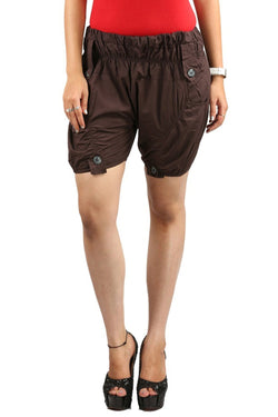 Earthy Brown Swanky Shorts