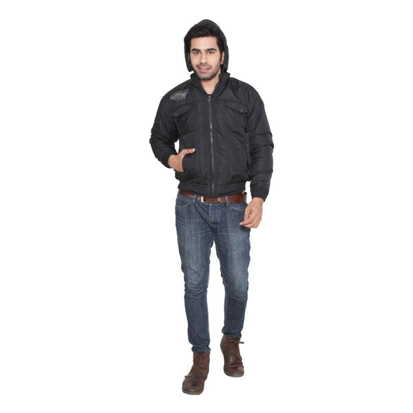 TeeMoods Stylish Full Sleeves Winter Fur Jacket  for Men