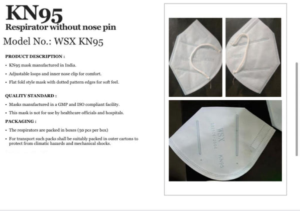 KN 95 Respirator Mask to protect against Pollution and Virus