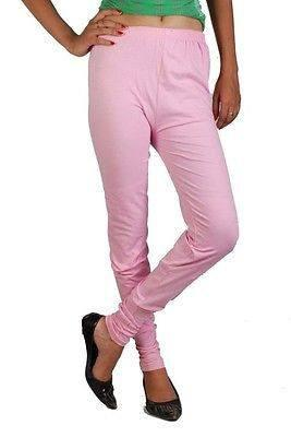 Cotton Legging in spandex for comfortable Summer Pink 7344