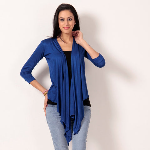 Ultrachik Royal Blue Wrap Shrug