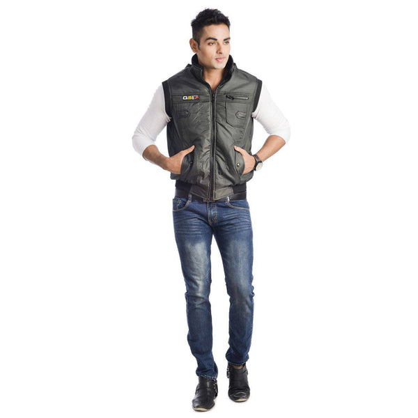 TeeMoods Sleeveless Casual Hooded Mens Jacket