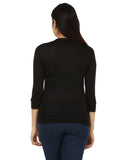 Teemoods Women's Cotton 3/4th Sleeves Shrug, Summer Shrug for Ladies-back