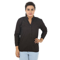 TeeMoods Cotton Black Women's Shirt