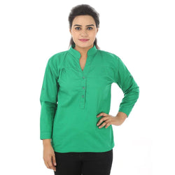 TeeMoods Cotton Green Women's Shirt