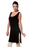 TeeMoods Women's Chemise Full Slips-Black-Side