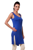 TeeMoods Women's Chemise Full Slips-Royal Blue-Side