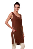 TeeMoods Women's Chemise Full Slips-Brown-Side