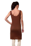 TeeMoods Women's Chemise Full Slips-Brown-Back
