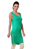 TeeMoods Women's Chemise Full Slips-Green-Side