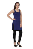 TeeMoods Women's Chemise Full Slips-Navy-Side