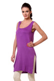 TeeMoods Women's Chemise Full Slips-Purple-Side