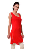 TeeMoods Women's Chemise Full Slips-Red-Side
