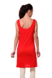 TeeMoods Women's Chemise Full Slips-Red-Back