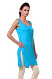 TeeMoods Women's Chemise Full Slips-Blue-Side