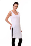 TeeMoods Women's Chemise Full Slips-White-Side
