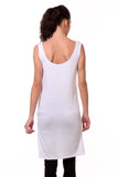 TeeMoods Women's Chemise Full Slips-White-Back