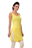 TeeMoods Women's Chemise Full Slips-Yellow-Side