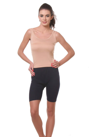 TeeMoods Womens Cycling Shorts -Navy-Full Front View