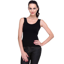 Women's Solid Black Tank Top